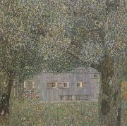 Gustav Klimt Farmhouse in Upper Austria (mk20) oil painting picture wholesale