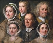HOGARTH, William Heads of Six of Hogarth's Servants (mk08) oil painting picture wholesale