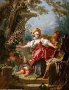 Jean Honore Fragonard Blind Man's Buff (mk08) oil painting picture wholesale