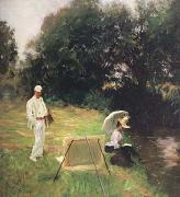 John Singer Sargent Dennis Miller Bunker Painting at Calcot (mk18) oil painting picture wholesale