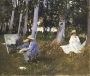 John Singer Sargent Claude Monet Painting at the Edge of a Wood (mk18) oil painting picture wholesale
