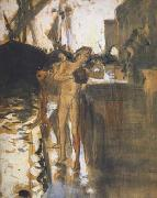 John Singer Sargent Two Nude Bathers Standing on a Wharf (mk18) oil painting picture wholesale