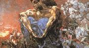 Mikhail Vrubel Seated Demon (mk19) oil painting picture wholesale