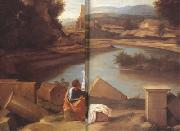Nicolas Poussin Landscape with Saint Matthew and the Angel (mk10) oil painting picture wholesale