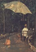 Silvestro lega Angiolo Tommasi Painting in a Garden (nn02) oil painting picture wholesale