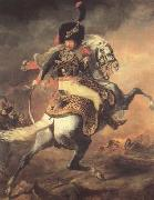 Theodore Gericault Chasseur of the Imperial Guard,Charging (mk10) oil painting artist
