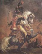 Theodore Gericault Chasseur of the Imperial Guard,Charging (mk10 oil painting artist