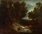 Thomas Gainsborough The Watering Place (mk08) oil painting picture wholesale