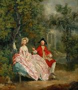 Thomas Gainsborough Lady and Gentleman in a Landscape (mk08) oil painting picture wholesale