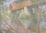 julian alden weir The Red Bridge (nn02) oil painting artist