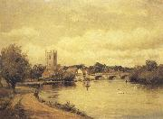 Alfred de breanski Henley-on-Thames (mk37) oil