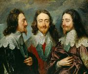 Anthony Van Dyck Charles I in Three Positions (mk25) oil painting picture wholesale