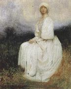 Arthur hacker,R.A. The Girl in White (mk37) oil painting artist
