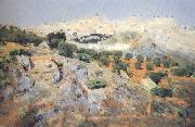 Aurelio de Beruete View of Toledo from the Olive Groves (nn02) oil