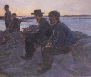 Carl Wilhelmson On the Rocks at Fiskebackskil (nn02 oil painting