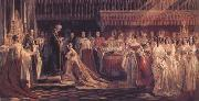Charles Robert Leslie Queen Victoria Receiving the Sacrament at her Coronation 28 June 1838 (mk25) oil painting picture wholesale