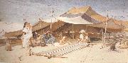 Charles rowbotham Spinners and Weavers (mk37) oil