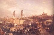 Clarkson Frederick Stanfield The Opening of London Bridge (mk25) oil painting picture wholesale