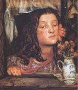 Dante Gabriel Rossetti Girl at a Lattice (mk28) oil painting picture wholesale