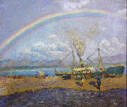Dario de Regoyos The Rainbow (nn02) oil painting