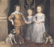 Dyck, Anthony van The Three Eldest Children of Charles I (mk25) oil painting picture wholesale