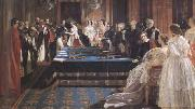 Edward Matthew Ward The Investiture of Napoleon III with the Order of the Garter 18 April 1855 (mk25) oil