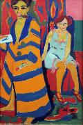 Ernst Ludwig Kirchner self-Portrait with Model (nn03) oil painting artist
