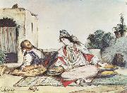 Eugene Delacroix Conversation mauresque (mk32) oil painting picture wholesale