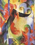 Franz Marc Broken Forms (mk34) oil painting picture wholesale