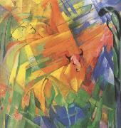 Franz Marc Animals in Landscape (mk34) oil painting picture wholesale
