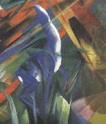 Franz Marc Details of Fate of the Animals (mk34) oil painting picture wholesale