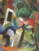 Franz Marc Small Composition ii (mk34) oil painting picture wholesale
