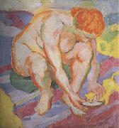 Franz Marc Nude with  Cat (mk34) oil painting picture wholesale