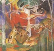 Franz Marc Deer in the Forest i (mk34) oil painting picture wholesale
