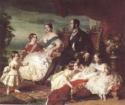 Franz Xaver Winterhalter The Family of Queen Victoria (mk25) oil painting picture wholesale