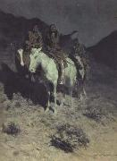 Frederic Remington Indian Scouts at Evening (mk43) oil painting picture wholesale