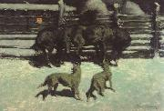 Frederic Remington The Call for Help (mk43) oil painting picture wholesale