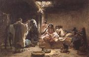 Frederick Arthur Bridgman Interior of an Algerian House,Biskra (mk32) oil painting picture wholesale