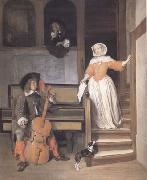 Gabriel Metsu The Cello Player (mk25) oil painting picture wholesale