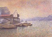 Georges Lemmen View of the Thames (nn02) oil painting picture wholesale