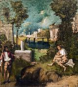Giorgione The Tempest (nn03) oil painting picture wholesale