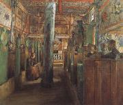 Harriet Backer Uvdal Stave Church (nn02) oil painting picture wholesale