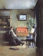 Harriet Backer Blue Interior (nn02) oil painting picture wholesale