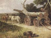 James holland,r.w.s Countryfolk logging (mk37) oil painting picture wholesale