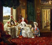 Johann Zoffany Queen Charlotte at her Dressing Table (mk25) oil painting reproduction