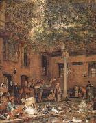 John Frederick Lewis The Hosh (Courtyard) of the House of the Coptic Patriarch Cairo (mk32) oil painting artist