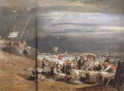 Joseph Mallord William Turner Fishermen at sea (mk31) oil painting picture wholesale