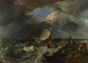 Joseph Mallord William Turner Calais Pier,with French poissards preparing for sea:an English packet arriving (detail) (mk31) oil painting picture wholesale