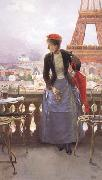 Luis jimenez aranda A Lady at the Paris Exposition (nn02) oil painting picture wholesale