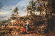 Peter Paul Rubens The Farm at Laeken (mk25) oil painting picture wholesale